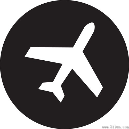 black_background_airplane_icon_vector_280785